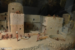 In the museum, a diarama of village life.