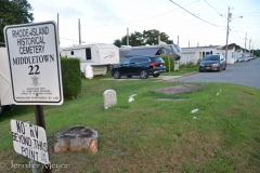 There was a tiny cemetery in the RV park.