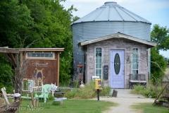The lavender farm silo store.