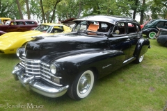 The whole park was filled with classic cars.
