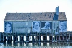 """""""They Also Faced the Sea"""" commemorates local Portuguese fisherwomen."""