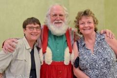 We met with Santa in the greenroom.
