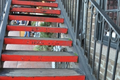 Red steps.