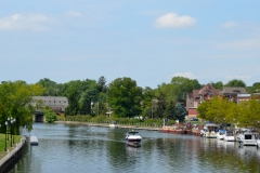 Seneca Falls sits on a canaled portion of the Seneca River.
