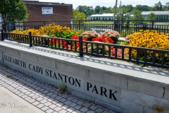 The Elizabeth Cady Stanton Park downtown.