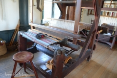 This loom was used for rag rugs.