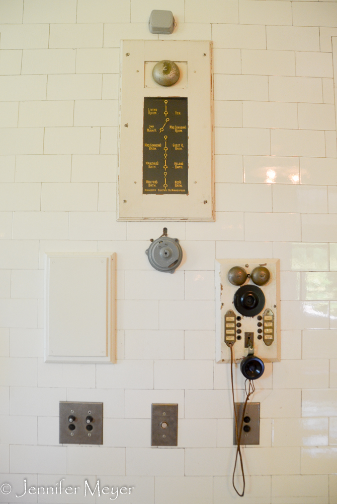 Communication center with bell alerts and intercom.
