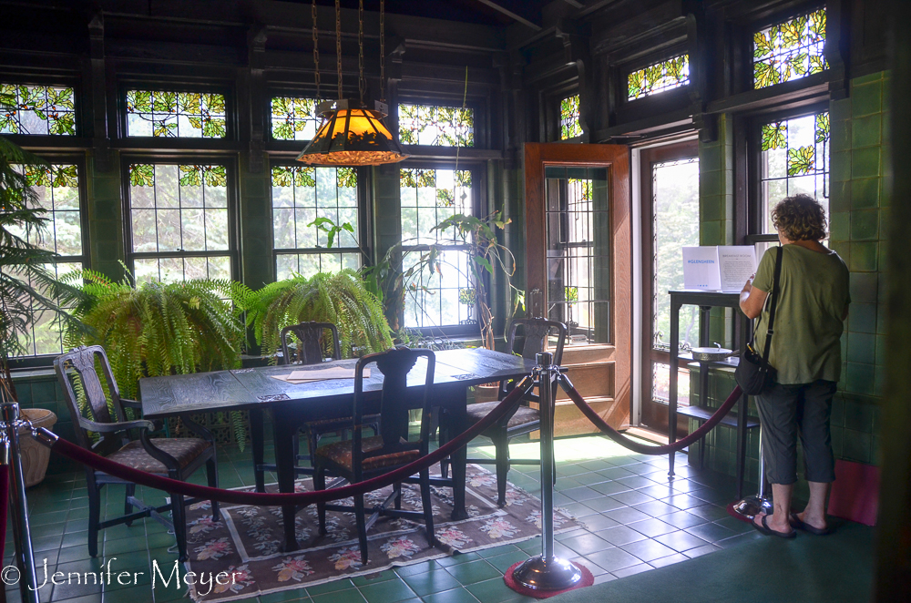 The breakfast room was also an atrium.