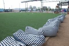 Bean bag chairs for the referees.