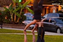 Some yoga people.