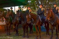Cops on horses.