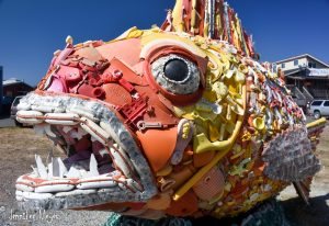 Sea refuse sculpture.