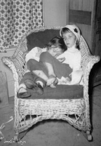 Me and Beth, about 1960.