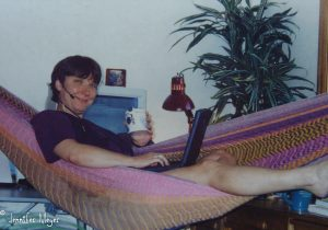My downtown office, years ago, had a hammock for meetings.